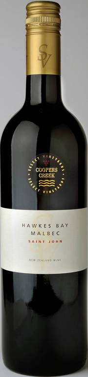 """St John"" SV Hawkes Bay Malbec 2013 SPECIAL PRICE ON CASE SALES"